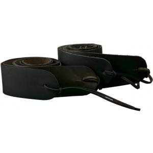 "Steve Clayton™ Guitar Strap: Leather, Black, 3 1/2"""